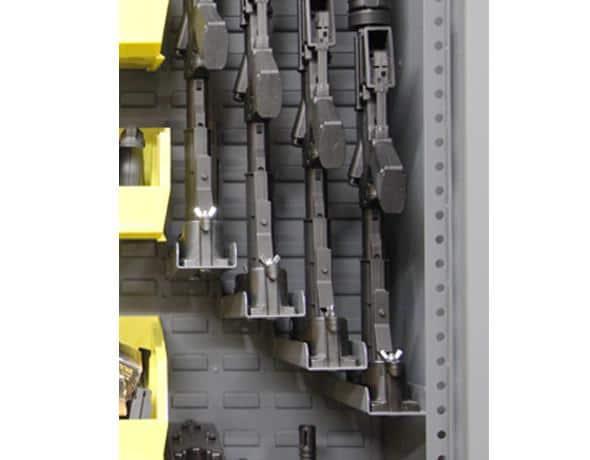 single stock shelves for gun lockers