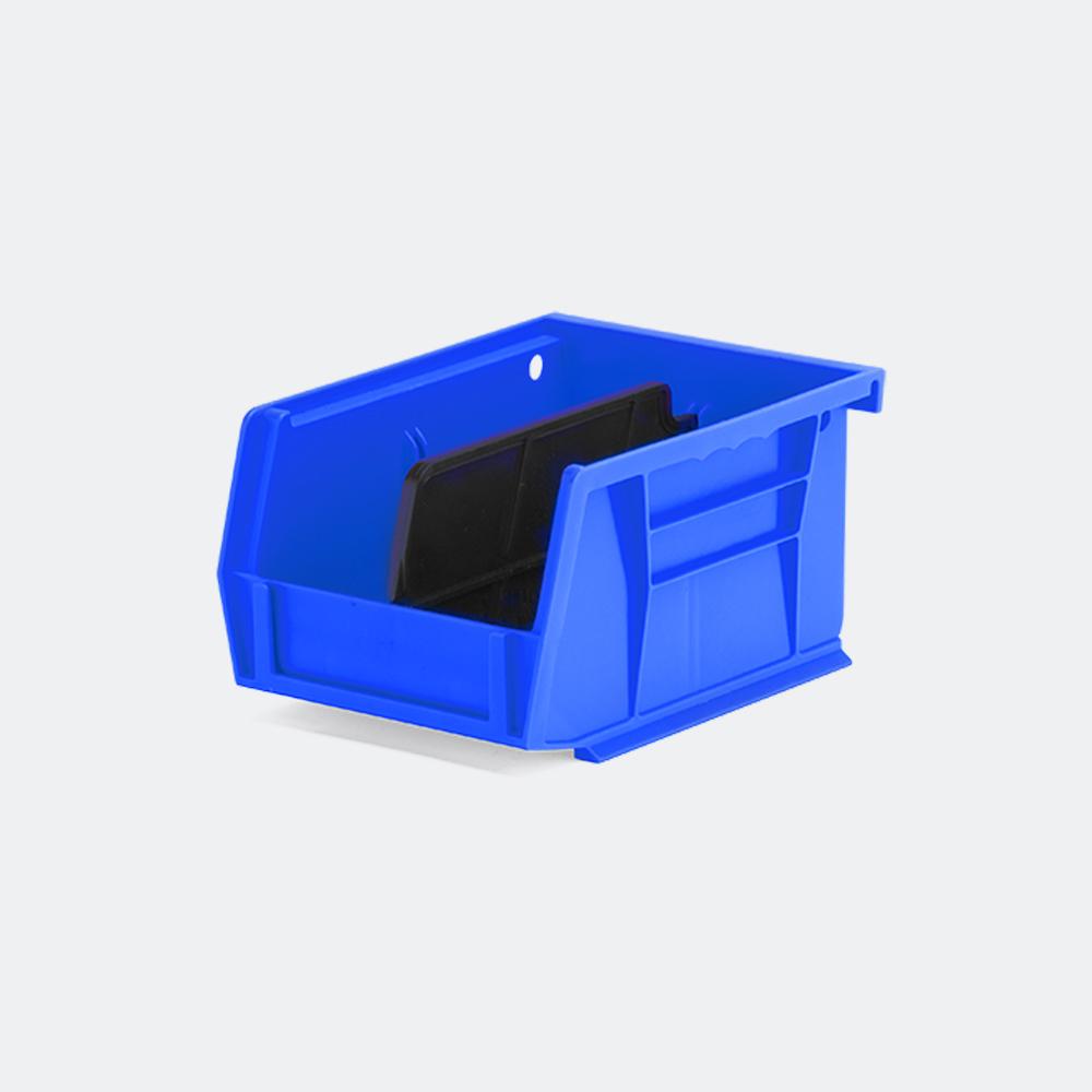 blue small storage bin